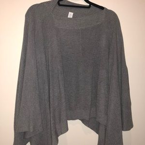 lulu lemon gray sweater poncho